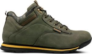 Zielone buty trekkingowe Feewear w sportowym stylu