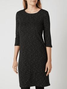 Czarna sukienka Montego z długim rękawem mini prosta