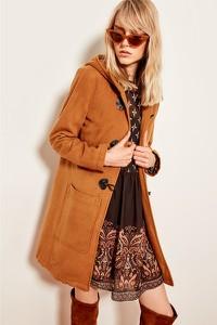 Pomarańczowy płaszcz Trendyol w stylu casual