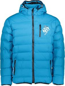 Niebieska kurtka Peak Mountain w sportowym stylu