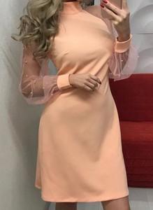 Sukienka Cikelly mini z długim rękawem ołówkowa