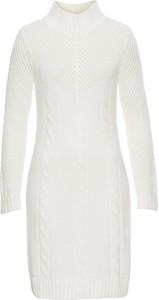 Biała sukienka bonprix bodyflirt boutique z dzianiny na co dzień
