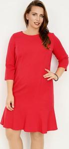 Sukienka Zaps Collection mini z długim rękawem z okrągłym dekoltem