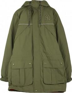 Brązowa kurtka New Era z bawełny