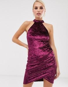 Fioletowa sukienka Ax Paris mini bez rękawów dopasowana