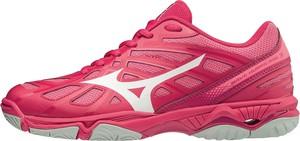 Różowe buty sportowe Mizuno z płaską podeszwą w sportowym stylu
