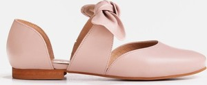 Baleriny Marco Shoes ze skóry z płaską podeszwą