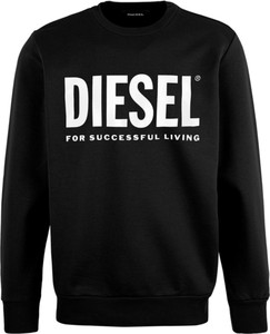 Czarny sweter Diesel z bawełny w młodzieżowym stylu