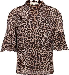 Brązowa bluzka Michael Kors z golfem