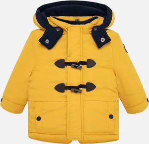 Żółta kurtka dziecięca Mayoral dla chłopców z tkaniny