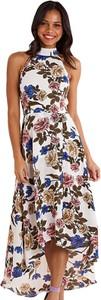 Sukienka Mela London maxi bez rękawów z dekoltem w kształcie litery v