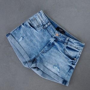 Niebieskie szorty Reserved w stylu casual z jeansu
