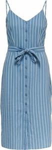 Niebieska sukienka Only z tkaniny na ramiączkach