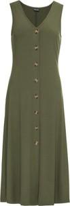 Zielona sukienka bonprix BODYFLIRT z dekoltem w kształcie litery v w stylu casual bez rękawów