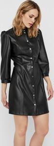 Czarna sukienka WARESHOP z długim rękawem