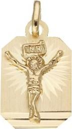 Lovrin Złoty medalik 333 Blaszka z Panem Jezusem 0,82g