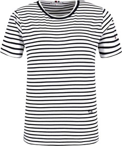 Czarny t-shirt Tommy Hilfiger z okrągłym dekoltem z krótkim rękawem