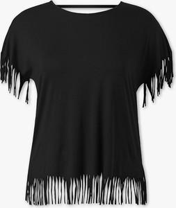 T-shirt YESSICA z okrągłym dekoltem z krótkim rękawem w stylu boho