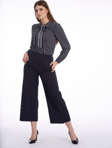 Granatowe spodnie POTIS & VERSO z tkaniny