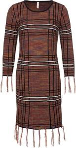 Brązowa sukienka bonprix BODYFLIRT boutique