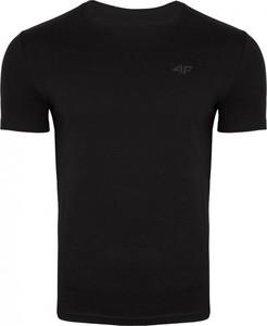 Czarny t-shirt 4F z bawełny z krótkim rękawem