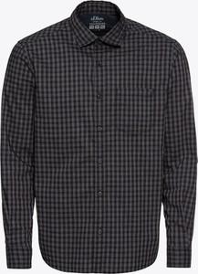Brązowa koszula S.Oliver Red Label z bawełny