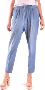 Niebieskie spodnie Fabiana Filippi z bawełny