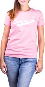 T-shirt Converse w stylu casual z krótkim rękawem z okrągłym dekoltem