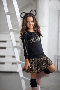Czarna sukienka dziewczęca Małami