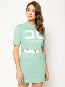 Sukienka Elisabetta Franchi dopasowana w stylu casual