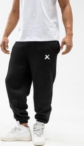 Czarne spodnie sportowe Point X z dresówki w sportowym stylu