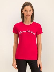 T-shirt Armani Exchange z krótkim rękawem z okrągłym dekoltem