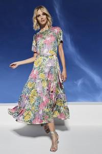 Sukienka Lavard maxi z okrągłym dekoltem z tkaniny