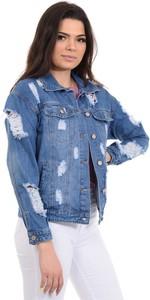 Niebieska kurtka fasoni.pl w młodzieżowym stylu