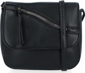 Czarna torebka Herisson duża w stylu glamour lakierowana