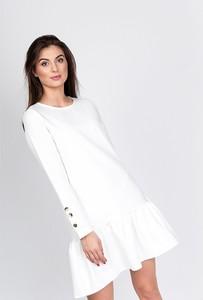 Sukienka ZOiO.pl z okrągłym dekoltem z bawełny oversize