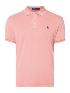 Różowa koszulka polo POLO RALPH LAUREN w stylu casual z krótkim rękawem