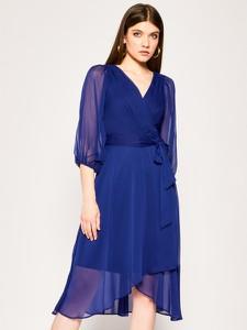 Sukienka DKNY z długim rękawem z dekoltem w kształcie litery v