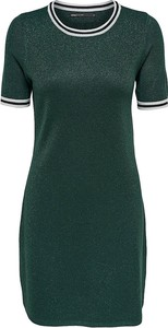 Zielona sukienka Only w stylu casual dopasowana mini