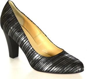 Acord 5829 czarny/srebro 153 czółenka damskie