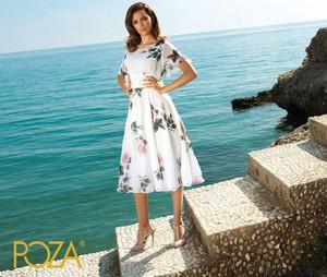 Sukienka Poza w stylu casual z tkaniny rozkloszowana