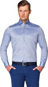 Niebieska koszula LANCERTO z tkaniny