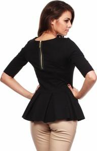 Czarna bluzka MOE z krótkim rękawem