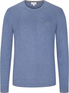 Niebieski sweter Lacoste z bawełny