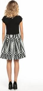 Czarna sukienka Tessita mini z bawełny