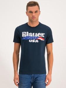 Granatowy t-shirt Blauer