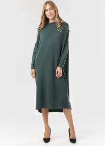 Zielona sukienka born2be midi