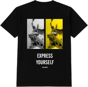 Czarny t-shirt MAJORS w młodzieżowym stylu z bawełny
