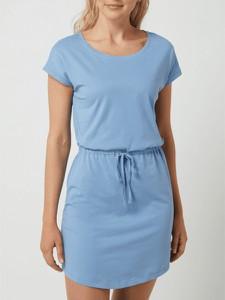 Niebieska sukienka Only z krótkim rękawem z okrągłym dekoltem