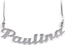 Jaspis Łańcuszek z imieniem PAULINA